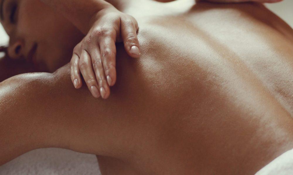 Leisure. Woman in spa salon