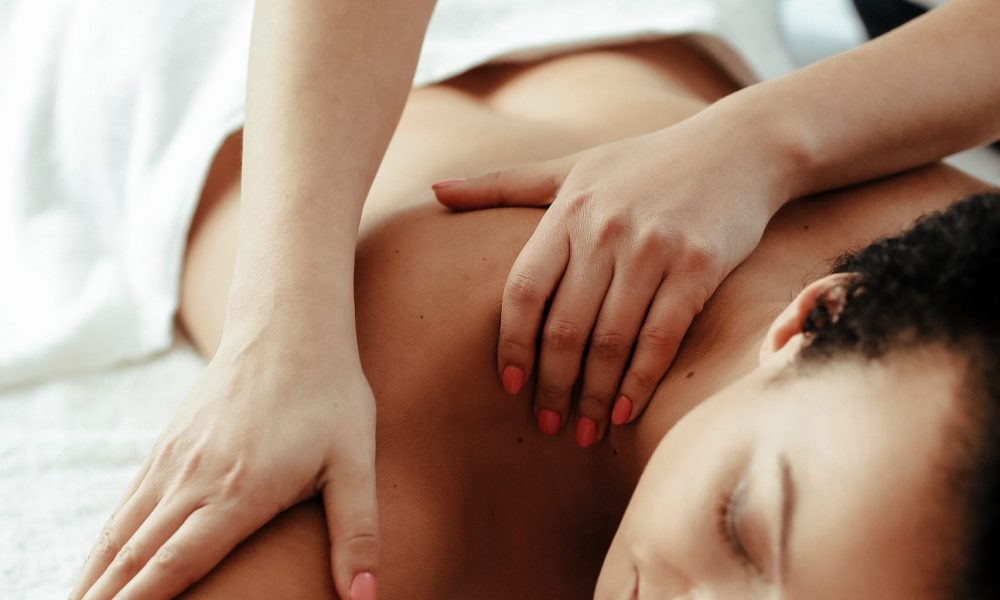 Beauty and body care. Woman in SPA salon